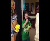 The Bitch AJ Lee kisses Hornswoggle. from aj lee hard kissing john cena