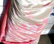 Satin Saree Aunty Back from indian aunty back holes fucking