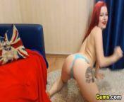 Sexy Redhead Masha Masturbating from masha bwi